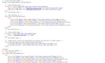 Web Development HTML Screenshot